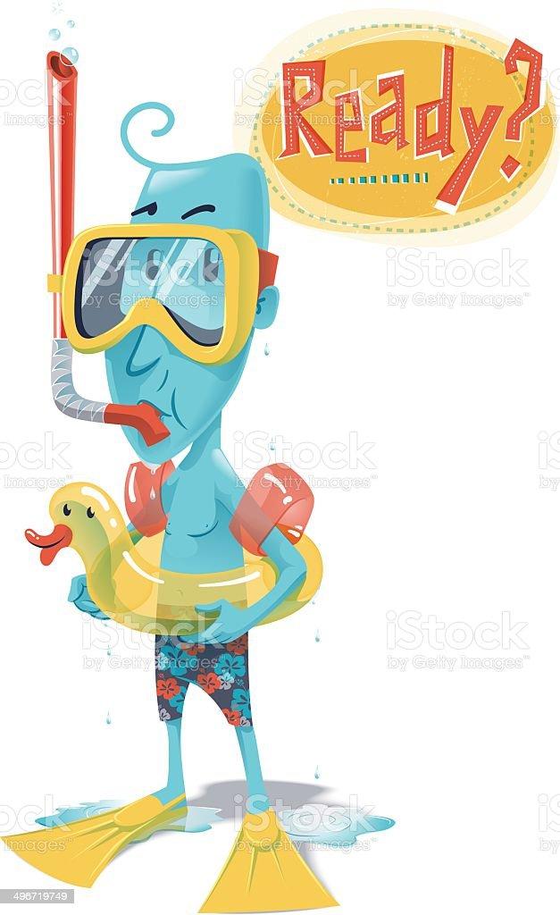 Snorkel vector art illustration