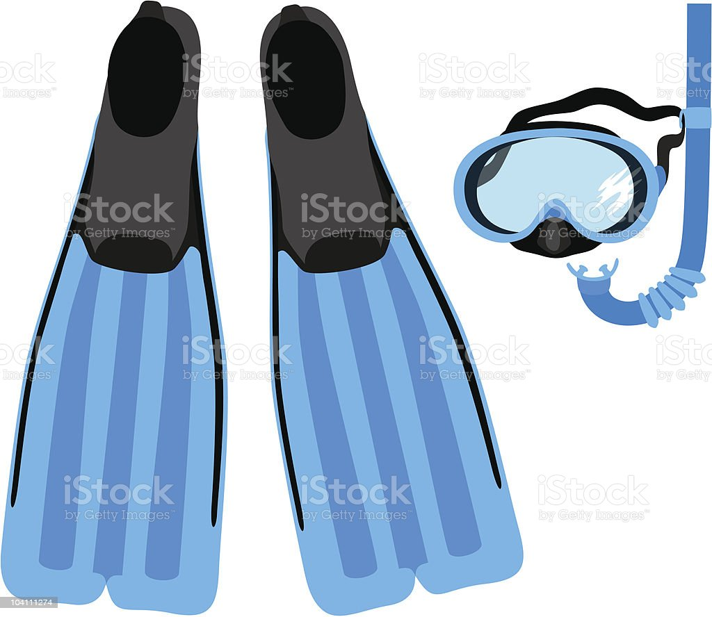 Snorkeling Equipment vector art illustration