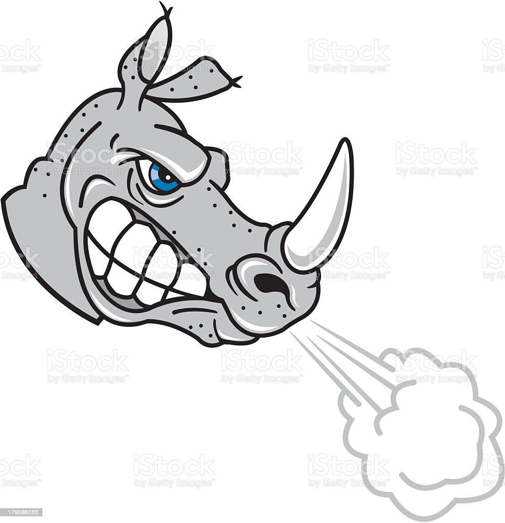 Snorting Rhino royalty-free stock vector art