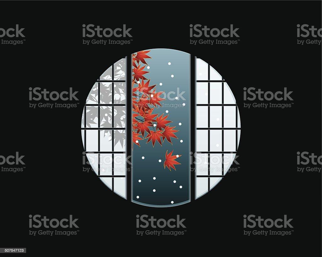 Cercle encadrement de fenêtre fenêtre hublot intérieur de maison témoin