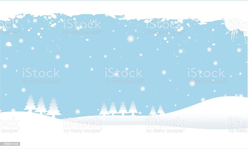 Snow and Christmas trees vector royalty-free stock vector art