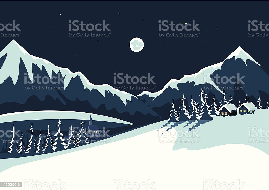 Snow and Mountains royalty-free stock vector art