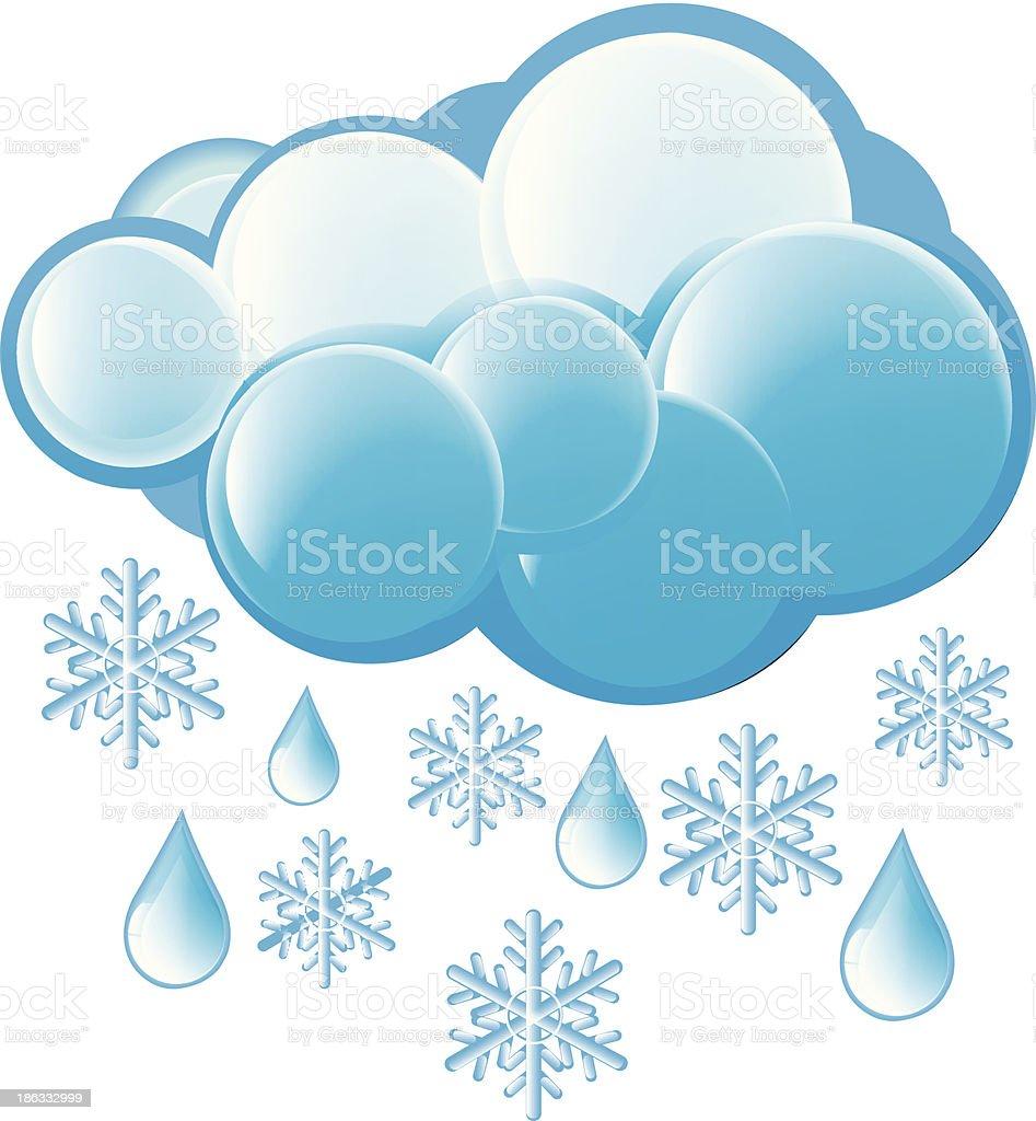 Snow And Rain Icon royalty-free stock vector art