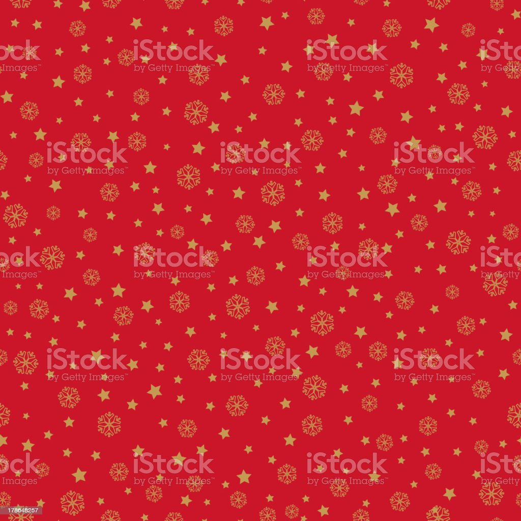Snow and star festive seamless wallpaper royalty-free stock vector art