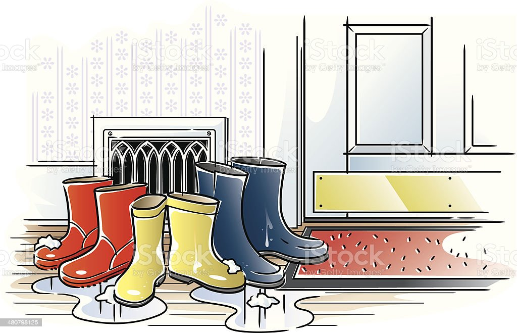 Snow Boots C royalty-free stock vector art