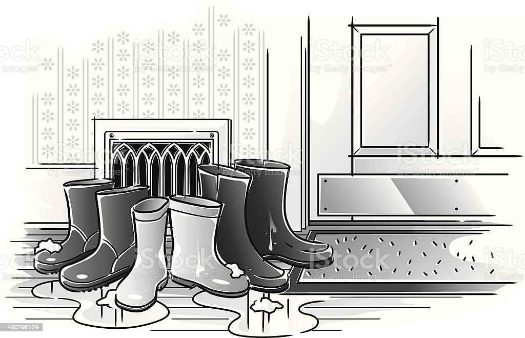 Snow Boots royalty-free stock vector art