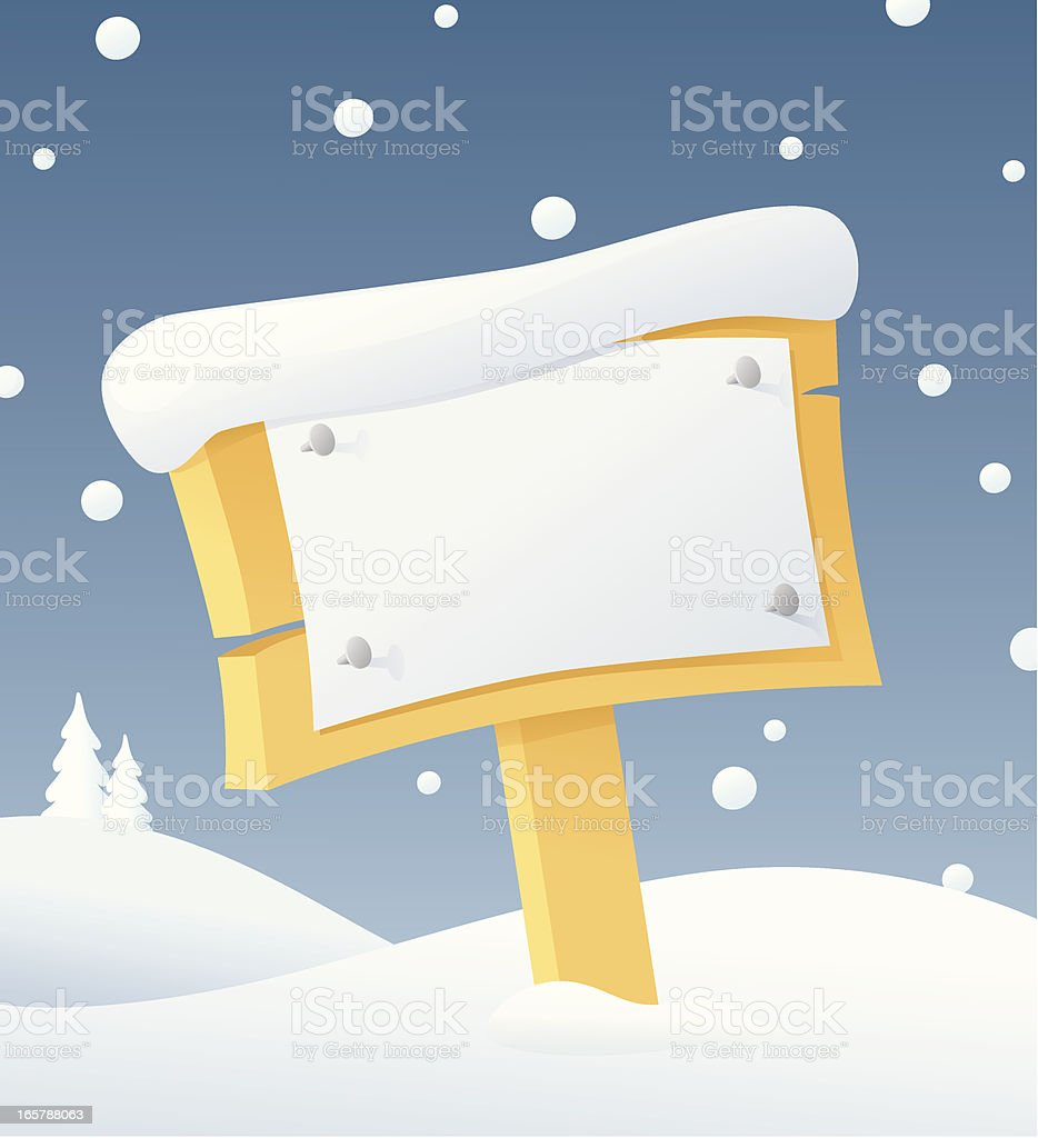 Snow Bulletin royalty-free stock vector art