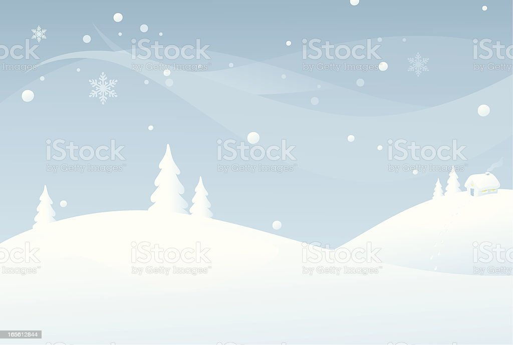 Snow Covered royalty-free stock vector art
