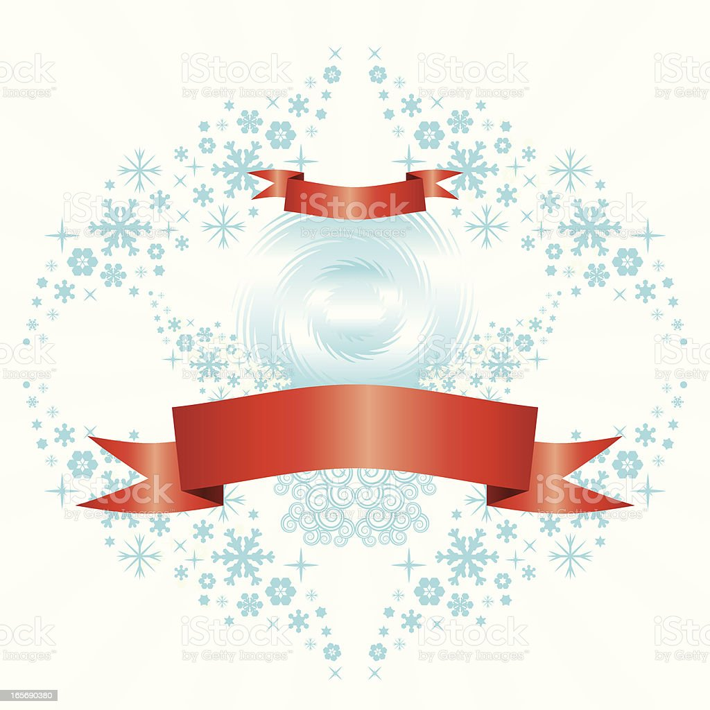 Snow crown banner royalty-free stock vector art