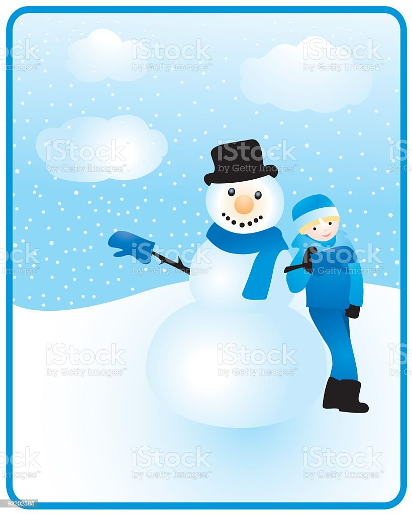 Snow day royalty-free stock vector art