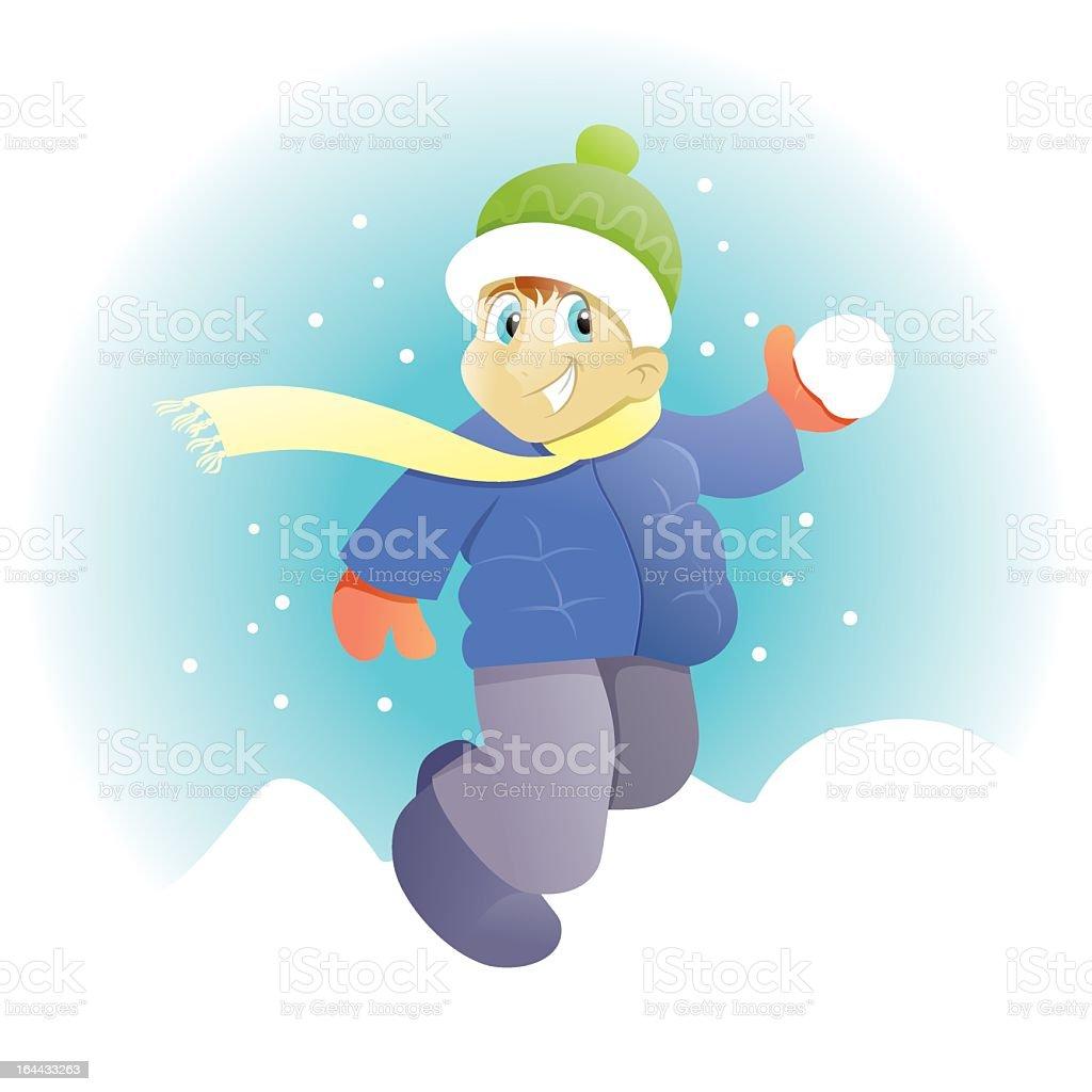 Snow Fight royalty-free stock vector art