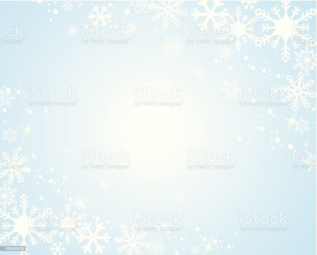 Snow flake background Vector vector art illustration