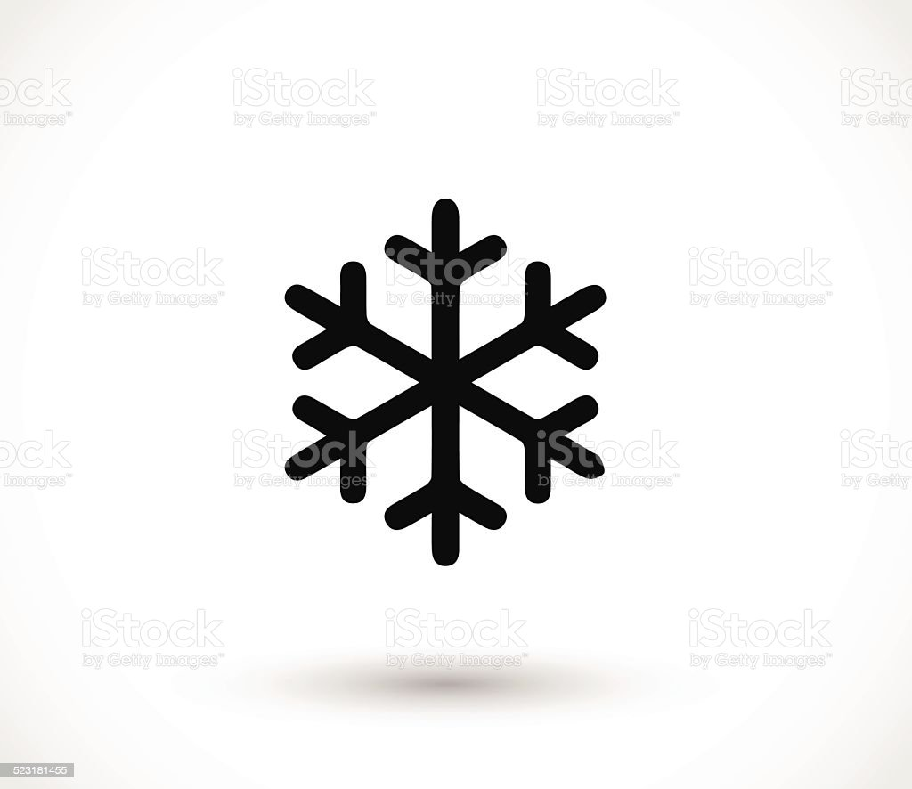 Snow flake icon vector vector art illustration
