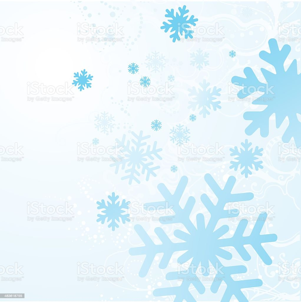 Snow Flakes Background - Illustration royalty-free stock vector art