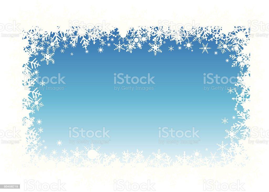 snow flakes holiday border royalty-free stock vector art