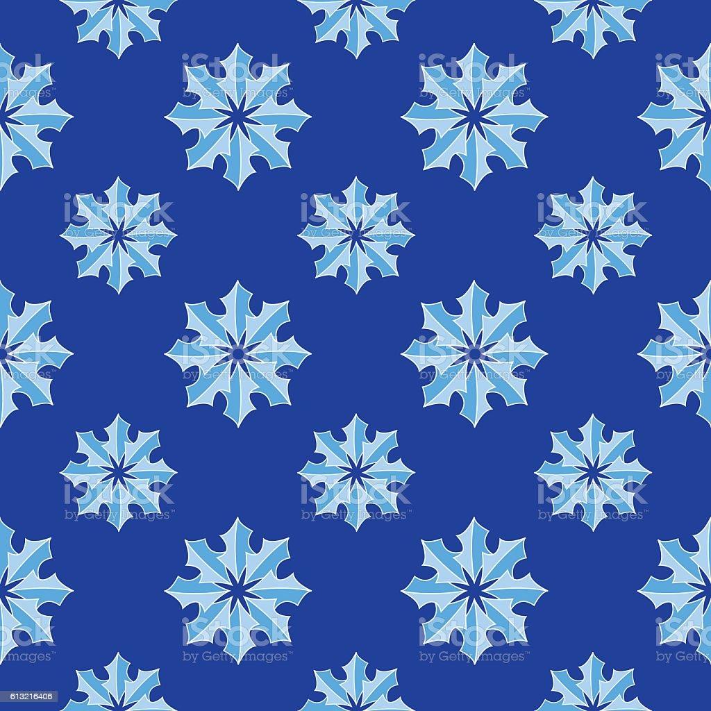 Snow Flakes Seamless pattern vector art illustration