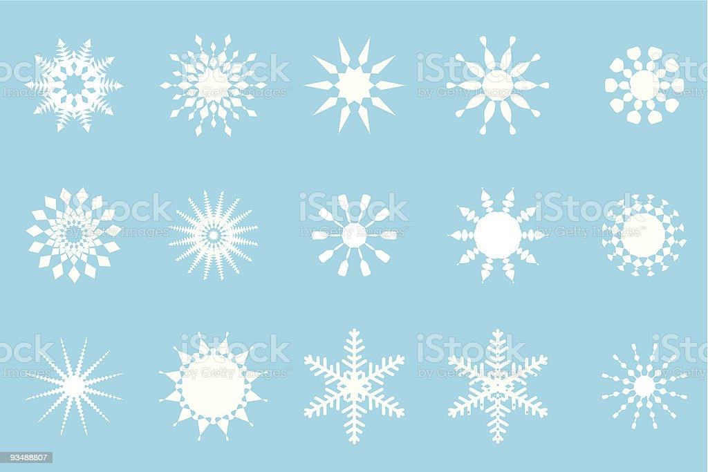 Snow Flakes royalty-free stock vector art