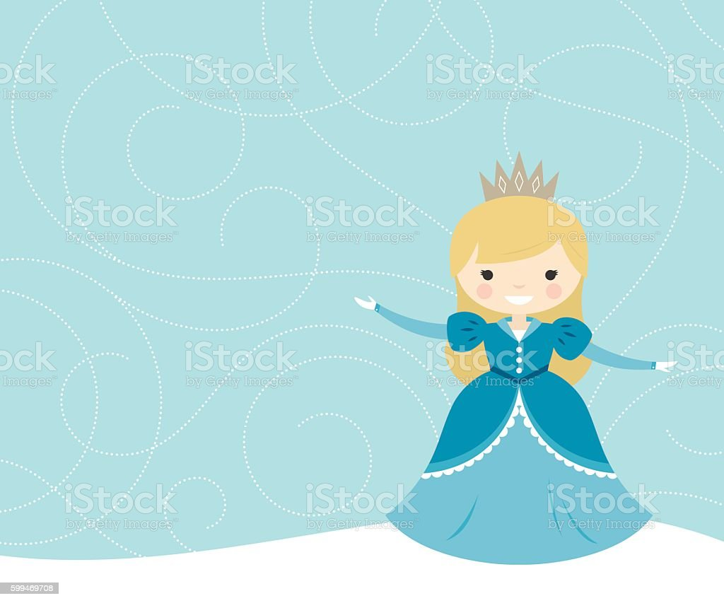 Snow Flurry Princess vector art illustration