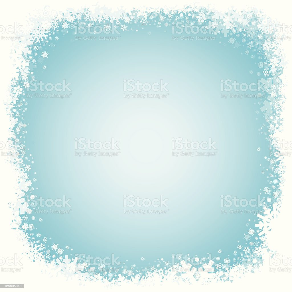 Snow frame blue background royalty-free stock vector art