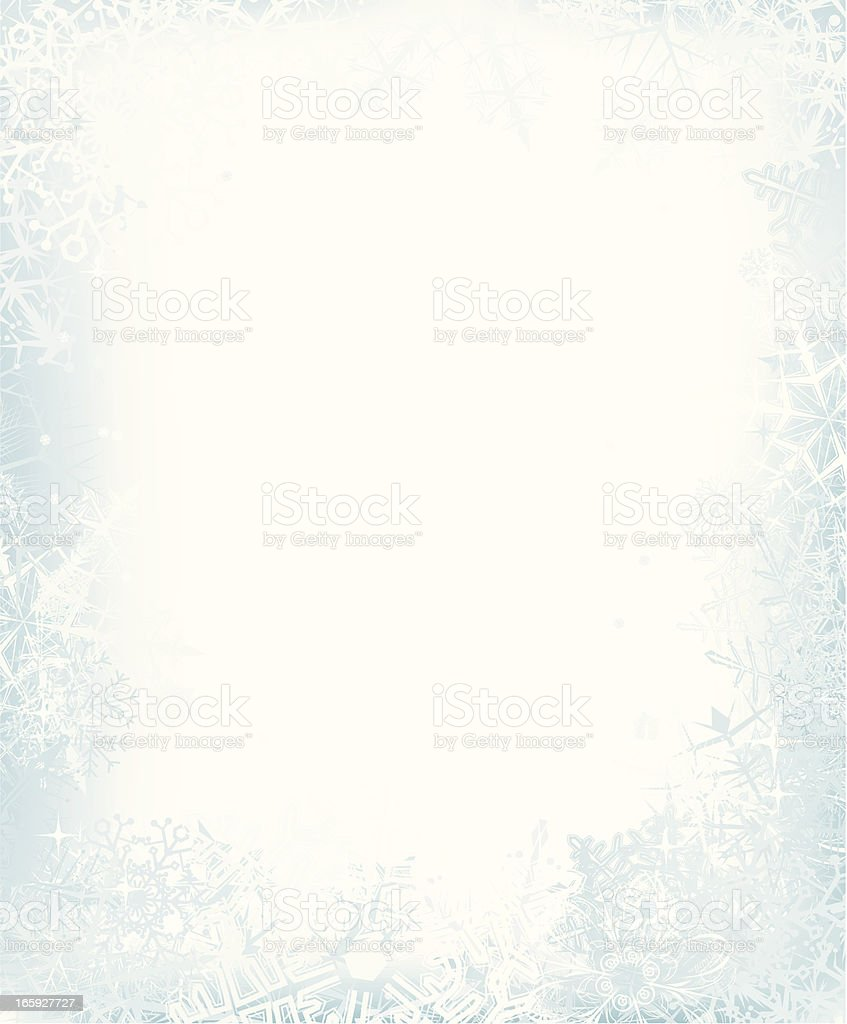 Snow  Frame vector art illustration