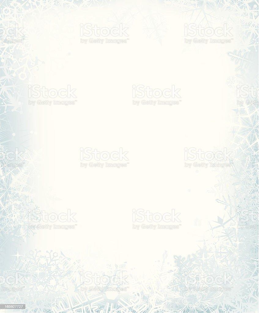 Snow  Frame vector art illustration