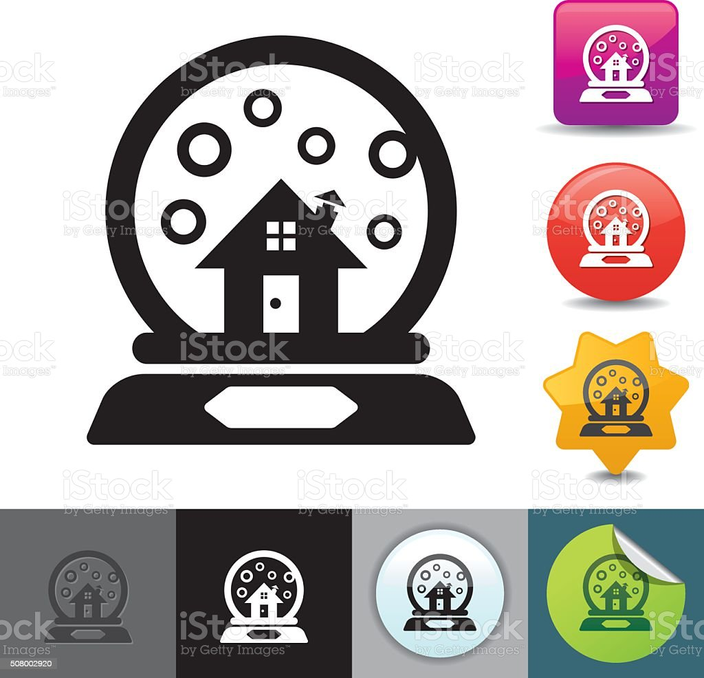 Snow globe icon | solicosi series vector art illustration