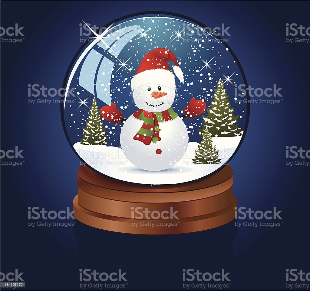 Snow globe royalty-free stock vector art