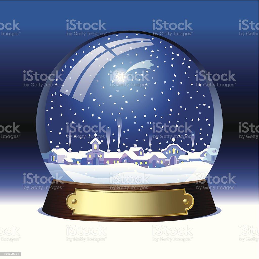 Snow globe vector art illustration