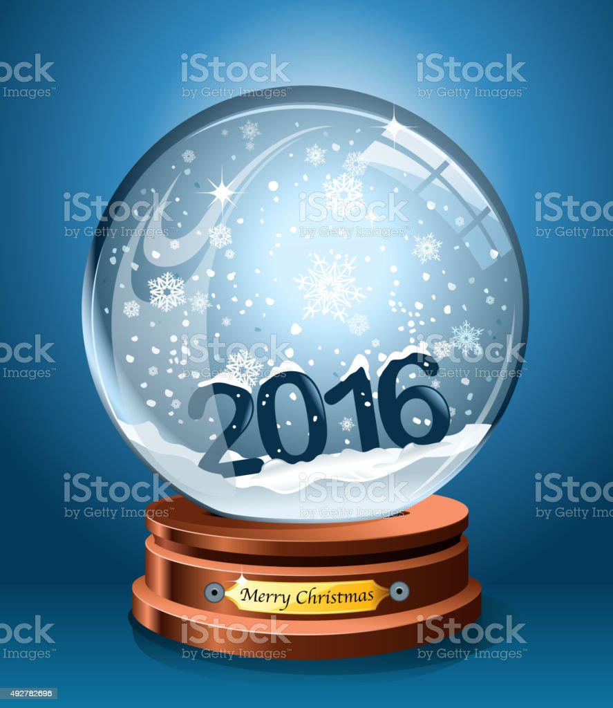 snow globe vector art illustration