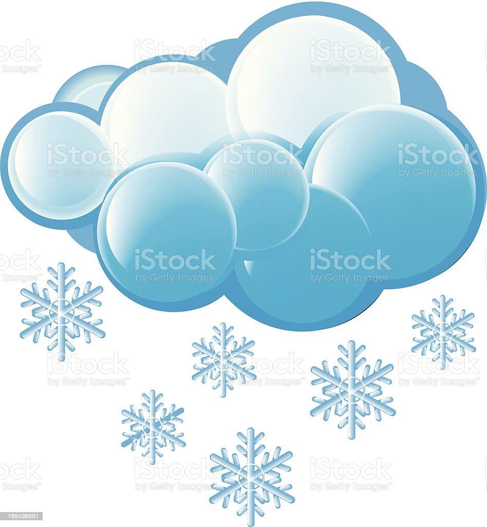 Snow Icon royalty-free stock vector art