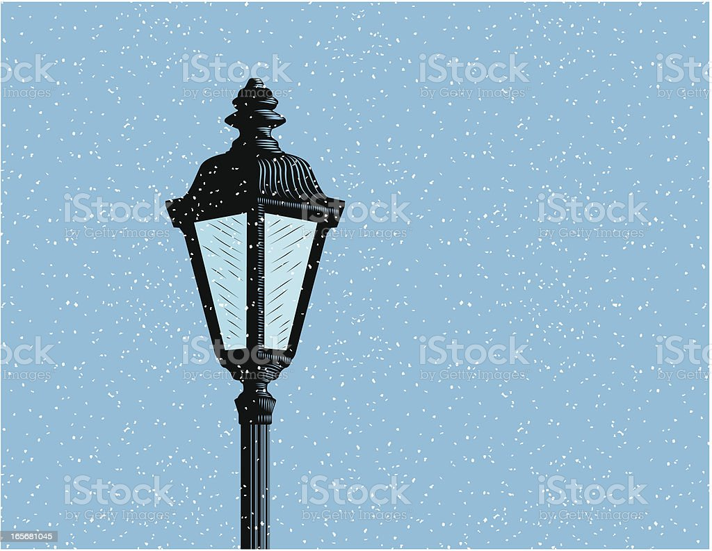 Snow Lamp vector art illustration