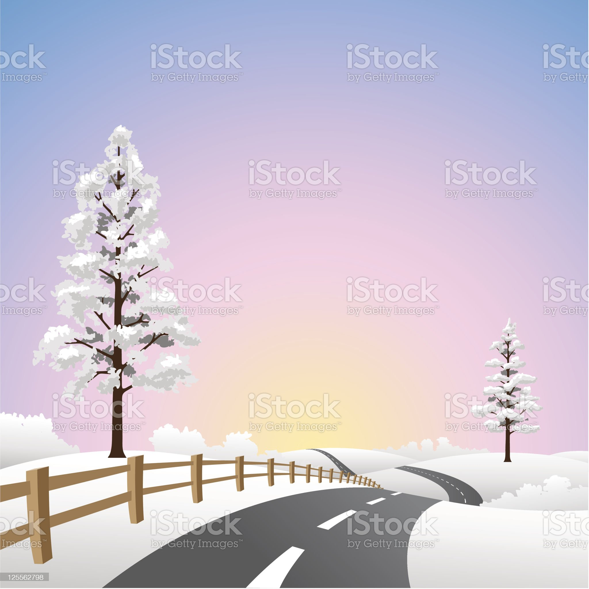 Snow Landscape royalty-free stock vector art