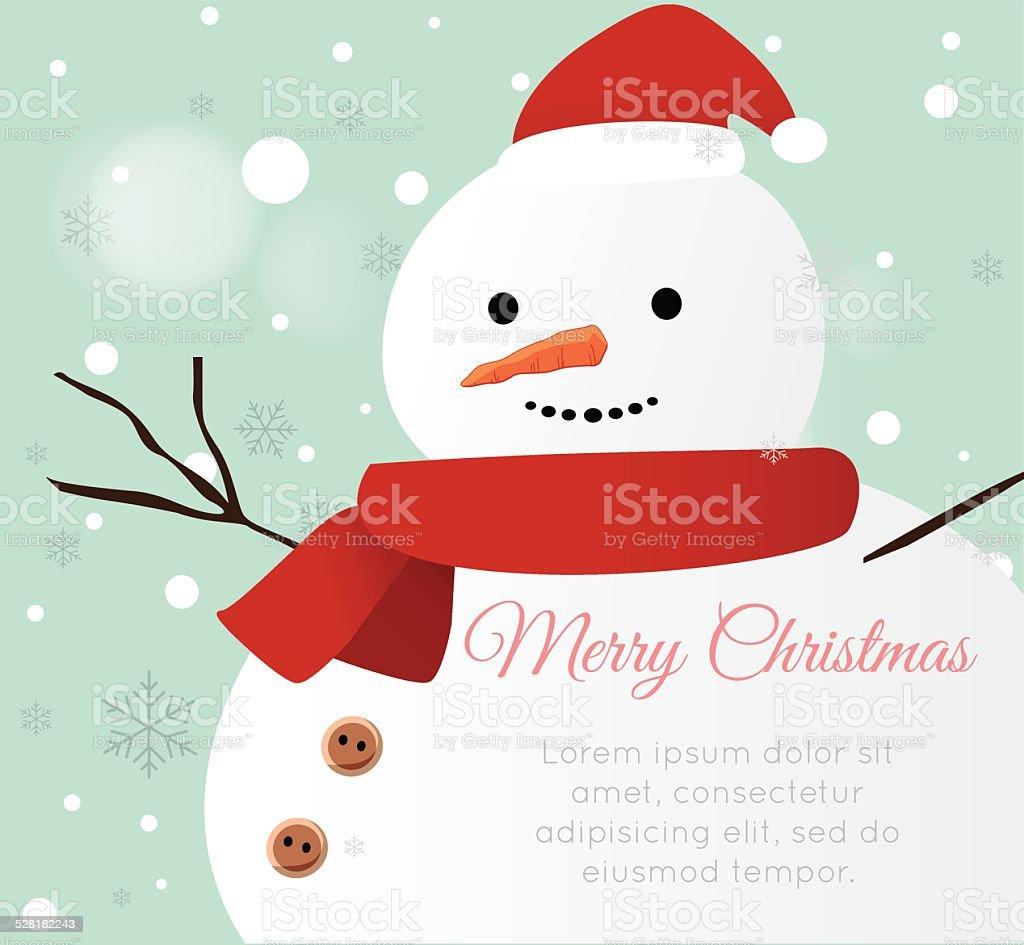 Snow man Card vector art illustration