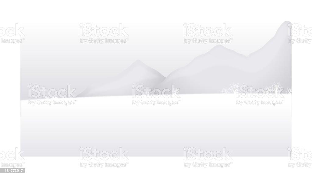 Snow mountain landscape royalty-free stock vector art