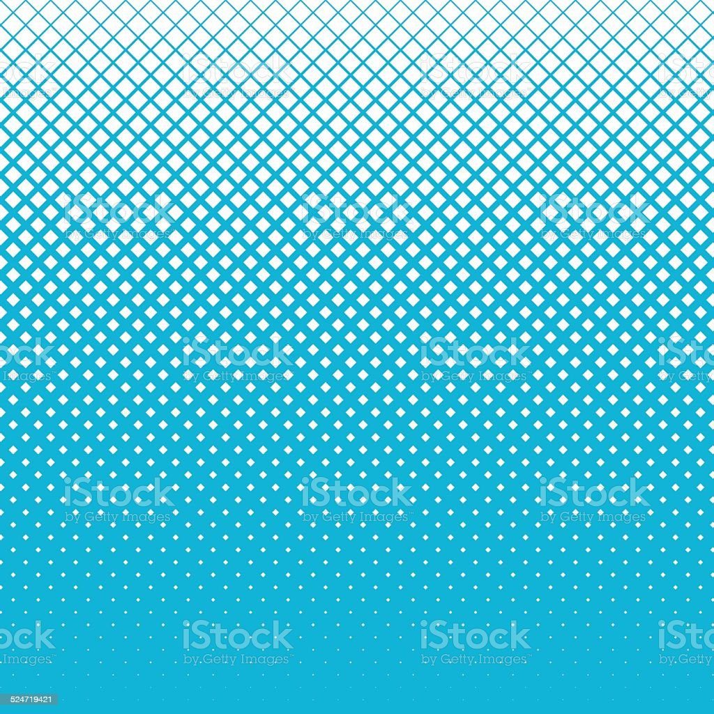 Snow of halftone cubes on blue sky background vector art illustration