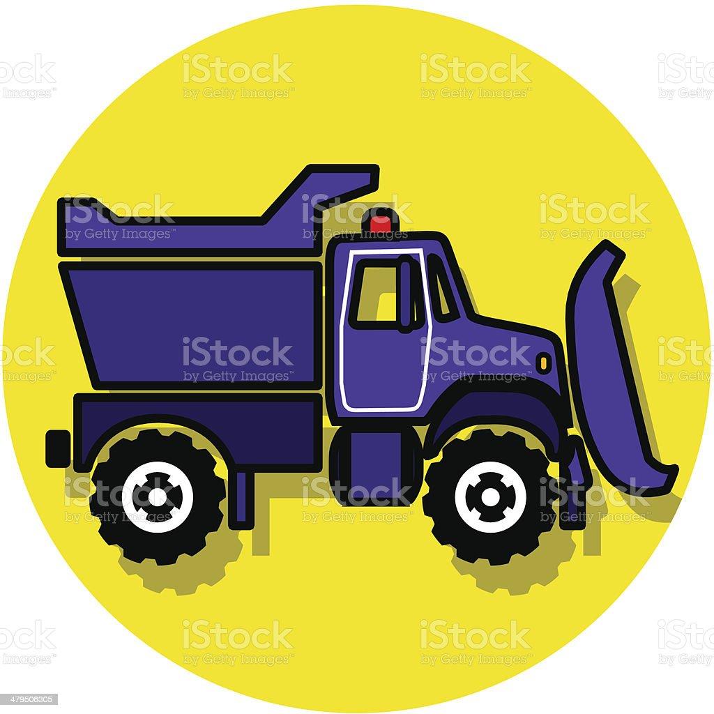 snow plough icon vector art illustration