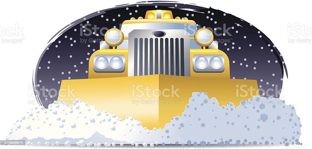 Snow Plow C vector art illustration