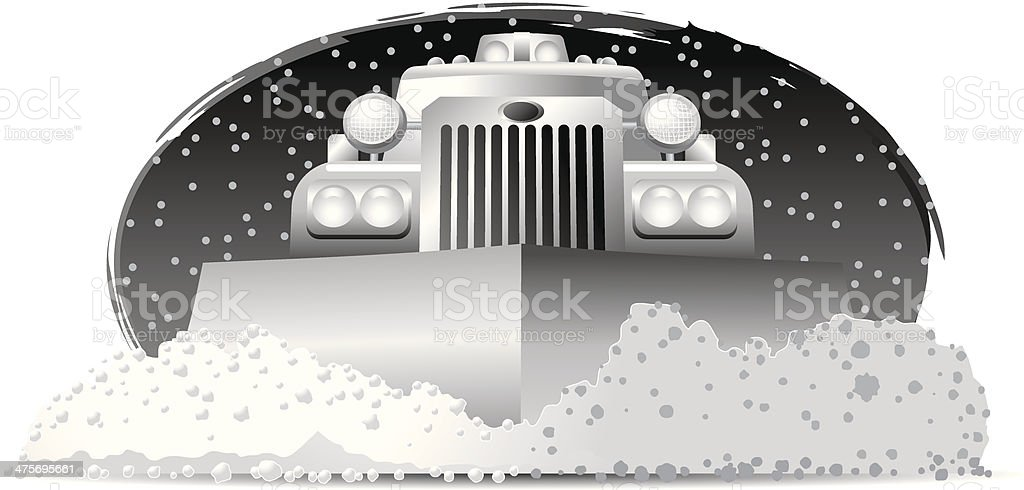 Snow Plow vector art illustration