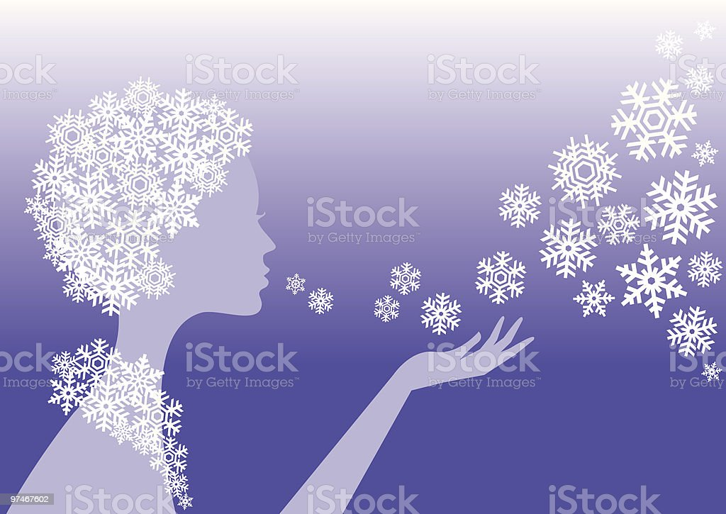 snow princess royalty-free stock vector art