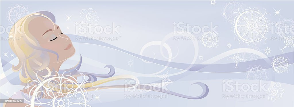 Snow Queen royalty-free stock vector art
