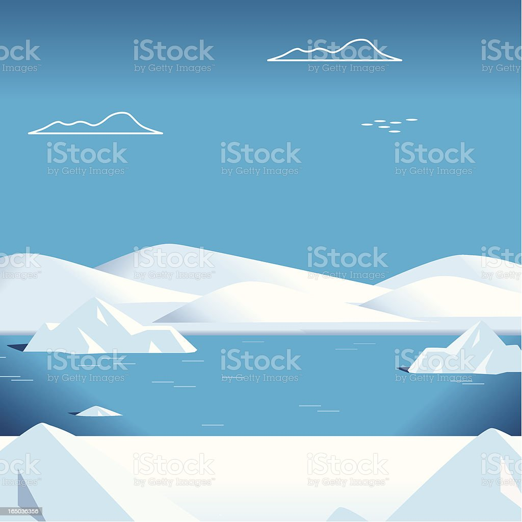 Snow Scene vector art illustration