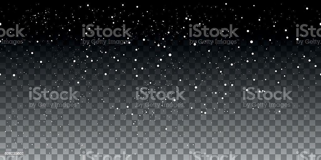 Snow seamless pattern on transparent background vector art illustration