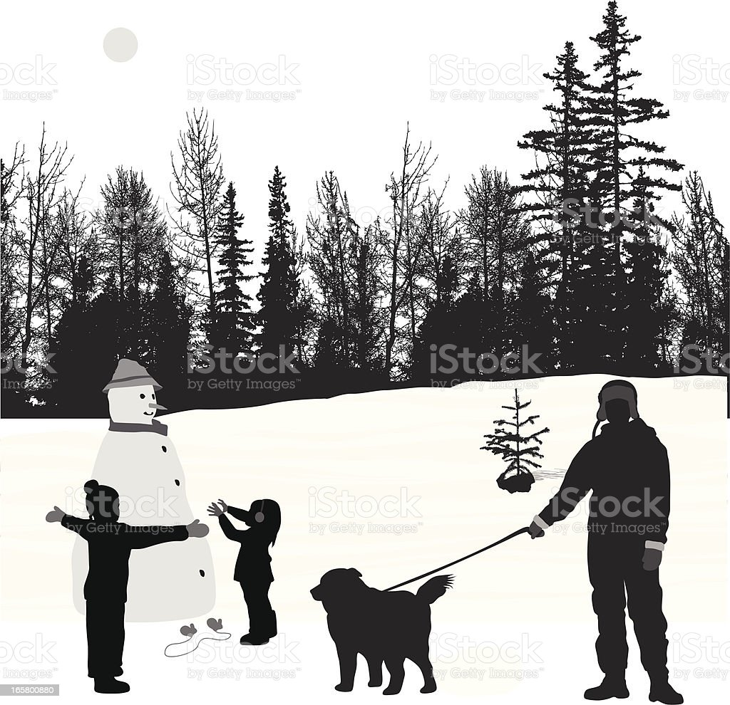 Snow Show Vector Silhouette royalty-free stock vector art