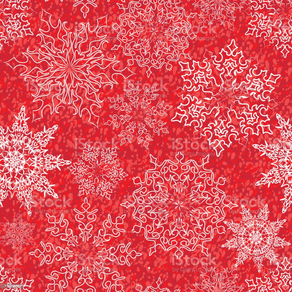 Snow splatted holiday pattern royalty-free stock vector art