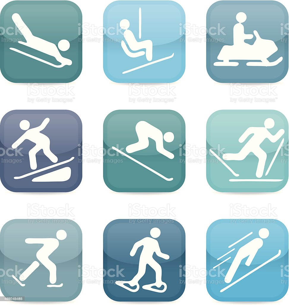 Snow sport icons royalty-free stock vector art