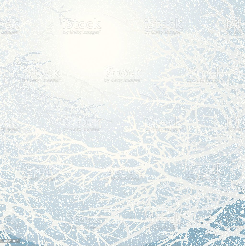 Snow Storm Background vector art illustration