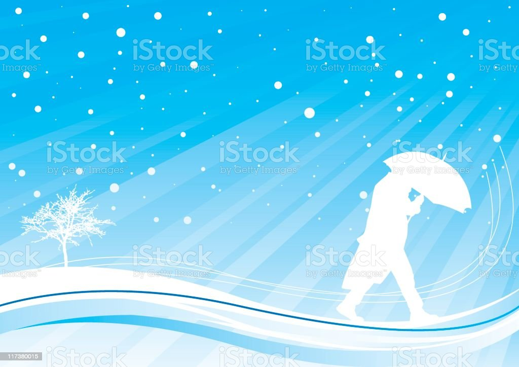 Snow storm royalty-free stock vector art