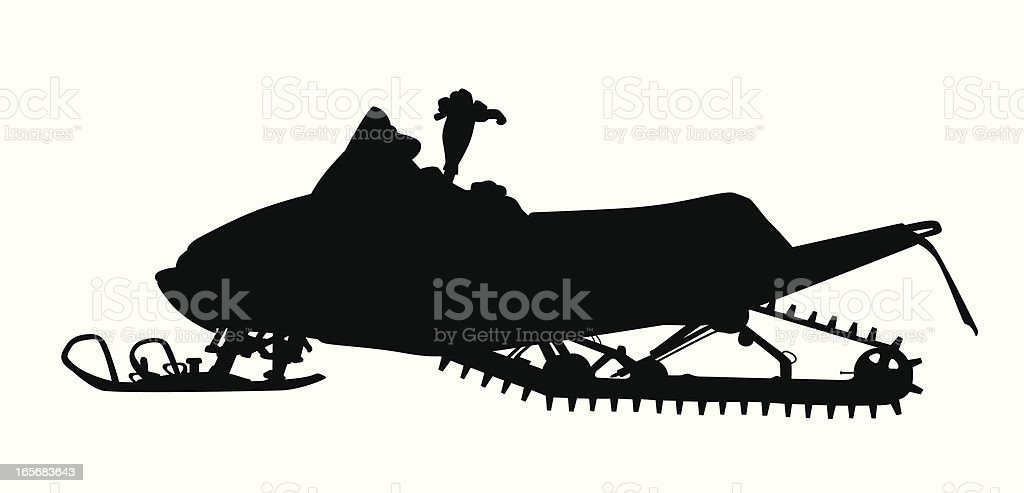 Snow Vehicle Vector Silhouette vector art illustration