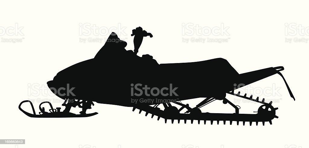 Snow Vehicle Vector Silhouette vector art illustration