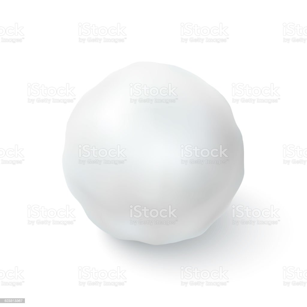 Snowball icon isolated on white background vector art illustration